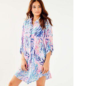 Lilly Pulitzer Natalie Shirt Dress Cover Up Summer